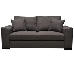 Canap convertible 3 places june tissu sawana anthracite canap s but - Canape tissu convertible 3 places ...