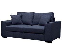 canap convertible 3 places june tissu sawana bleu. Black Bedroom Furniture Sets. Home Design Ideas