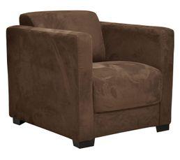 Fauteuil nicaragua2 tissu microfibre marron pas cher avis et prix en promo - Produit nettoyage fauteuil tissu ...
