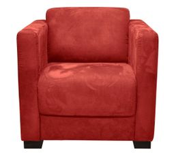 fauteuil nicaragua2 tissu microfibre rouge fauteuils but. Black Bedroom Furniture Sets. Home Design Ideas