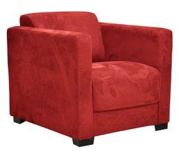 fauteuil nicaragua2 tissu microfibre rouge pas cher avis et prix en promo. Black Bedroom Furniture Sets. Home Design Ideas