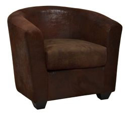 cabriolet theo tissu gobi marron fauteuils but. Black Bedroom Furniture Sets. Home Design Ideas
