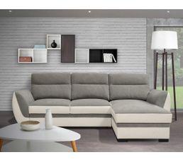 canap r versible convertible ellie tissu gris et blanc canap s but. Black Bedroom Furniture Sets. Home Design Ideas