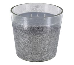 BLANC GLACIER Bougie glitter Argenté