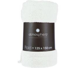 Plaid 125x150 cm PAILLETTE blanc