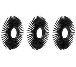 SUN Lot de 3 miroirs ø25cm Noir