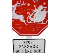 Pancarte 30x90 cm STOP Blanc / Rouge