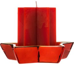 Bougeoirs Et Bougies - Bougie CLASSIC CHRISTMAS Rouge