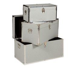 Coffres & Malles - Set de 3 malles ETOILE Gris