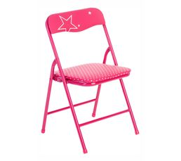 Petits Meubles - Chaise enfant STAR Fuchsia