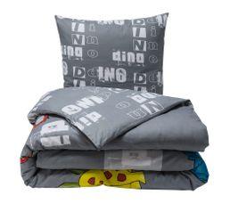 Housse de couette enfant 140X200 cm+ 1 taie d'oreiller DINO