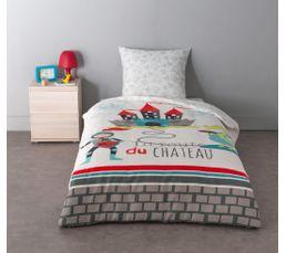 140X200 cm + 1 taie d'oreiller Housse de couette enfant CASTLE DRAGON