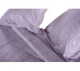 Housse de couette 220x240 + 2 Sofia gris clair/blanc