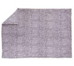 Plaid 125x150 Sofia gris clair/blanc