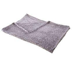 Plaids - Plaid 125x150 Sofia gris clair/blanc