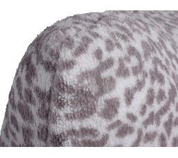Coussin 30x50 cm Sofia gris clair/blanc