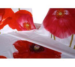 Housse de couette 240x220 + 2 KOKLIKO Blanc/Rouge