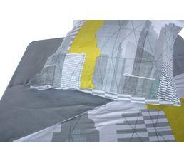 Housse de couette 140x200 + 1 CENTRAL PARK gris