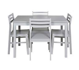 Table + 4 chaises DETROIT 2 Gris