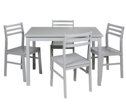 Table + 4 chaises DETROIT 2 Gris