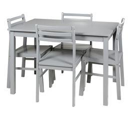 table 4 chaises detroit 2 gris. Black Bedroom Furniture Sets. Home Design Ideas
