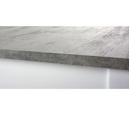 Table ronde avec allonge RUBEN Blanc /béton