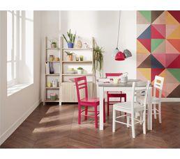 Table carré avec 2 allonges RUBEN Blanc/Béton