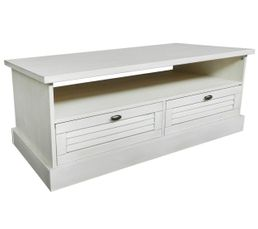 Table basse OLIVE Pin blanchi