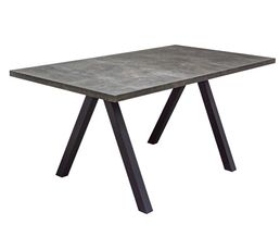 ARTUS Table rectangulaire Effet pierre
