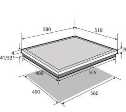 Table vitrocéramique BRANDT TV1020B