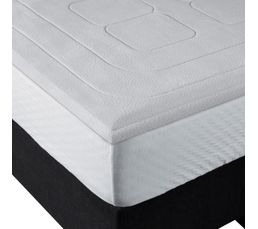 sur matelas 140 x 190 cm bultex memoire de forme sur. Black Bedroom Furniture Sets. Home Design Ideas