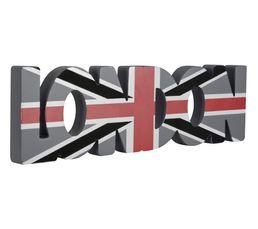 Mot d�coratif LONDON Gris/Rouge/Noir