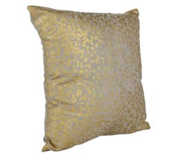 Coussin 40x40 cm DIFFUSION or/taupe