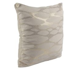 Coussin 40x40 cm SKIN beige/or