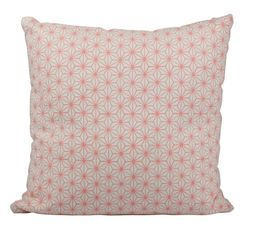 Coussins - COUSSIN ROSO BOHEME CHIC ROSE/BLANC