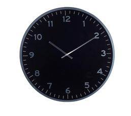 Horloges - Horloge diam 60 LIVY Noir/Argent