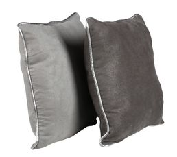 Coussin duo 30x30 cm DUO gris