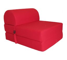 Chauffeuse unie 1 place rouge poufs poires but - Chauffeuse 1 place but ...