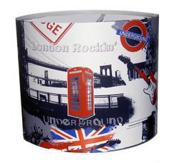 Lampe de londres ou avec le drapeau anglais deco londres for Lampe de chevet london