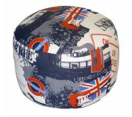 Canap londres avec le drapeau anglais deco londres for Site deco anglais