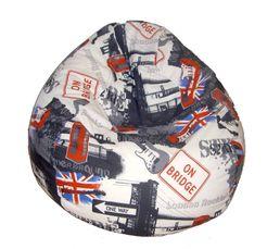 Canap londres avec le drapeau anglais deco londres - Pouf pour chambre d ado ...