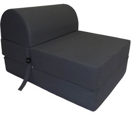 chauffeuse 57 5 cm noir poufs poires but. Black Bedroom Furniture Sets. Home Design Ideas