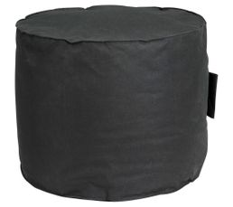 pouf rond d50 x h40 cm paola noir poufs poires but. Black Bedroom Furniture Sets. Home Design Ideas