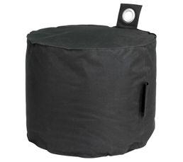 Poufs & Poires - Pouf rond D50 x H40 cm PAOLA Noir