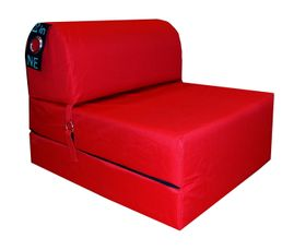 chauffeuse cm 2 in 1 rouge poufs poires but. Black Bedroom Furniture Sets. Home Design Ideas