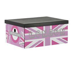 Boites De Rangement - Boîte cartonnée QUEENIE 18 x 40 x 30 cm