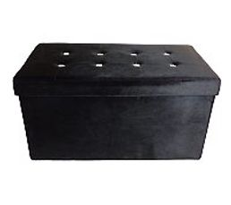banc coffre l 76 h 38 cm diamant noir poufs poires but. Black Bedroom Furniture Sets. Home Design Ideas