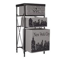 City Case NYC Gris/Noir