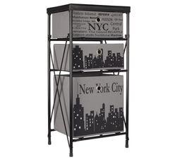 Petits Meubles - City Case NYC Gris/Noir