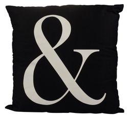 Coussin 50x50 cm ANDY noir